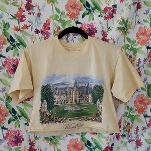 "Small Yellow ""Biltmore Estate"" Cropped Tshirt"